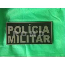 Placa De Identificação Colete Polícia Militar