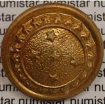 Antigo Botão Farda Militar 21 Estrelas Representa Os Estados