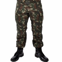 Calça Rip Stop Tática Paintball Exército Camuflada