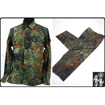 Uniforme Camuflado Flecktarn Alemao Tam Xl Airsoft Paintball
