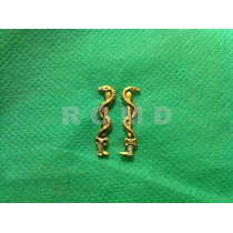 5a09m Distintivo Médico (4 Unidades = 2 Pares) Metal