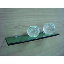 Prateleira De Vidro 40x12 Vidro Verde Lapidado 10mm