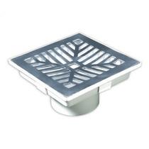 Caixa Coletora - Ralo Para Banheiro - Inox Polido 18x18