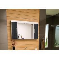 Espelheira Com Armário Para Banheiro San Marino
