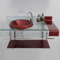 Pia Banheiro Chopin Vinho E Preto 90x53