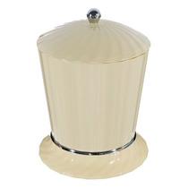 Lixeira De Banheiro Chão 4l Plástico Bege Stamplas