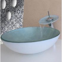 Kit Banheiro Cuba E Torneira Colorida De Vidro 30x30 E 42x42