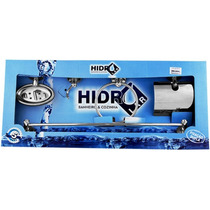 Kit De Acessórios De Banheiro Hidrolar Inox 05pç