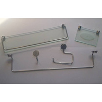 Acessório Banheiro Kit Clean Em Vidro - Frete Gratis