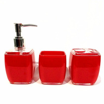 Kit De Pia Para Banheiro 3 Peças Acrilico Cores