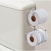 Suporte Duplo / Porta Papel Higiênico Para Caixa De Descarga