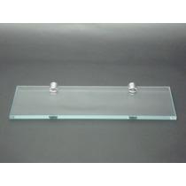 Prateleira De Vidro Porta Shampoo 40x12 Incolor