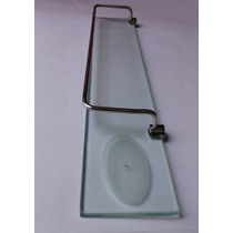 Porta Shampoo De Vidro Com Saboneteira - Frete Gratis