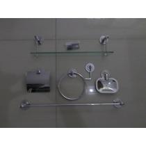 Kit Inox C/porta Shampoo 40cm 5 Anos De Garantia