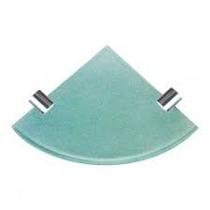 Prateleira De Vidro 6 Mm X19 Cm De Canto Para Banheiro Verde
