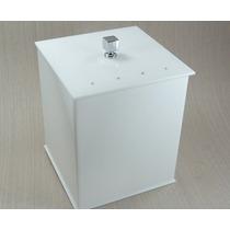 Kit Potes + Lixeira Acrílico Branco Strass Swarovski 4 Pçs