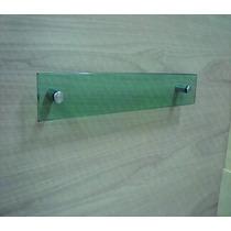 Porta Toalha Rosto 30x10 De Vidro Verde Lapidado 10mm