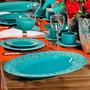 Travessa Grande Marrakech Azul Poppy - Em Cerâmica