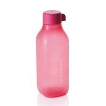 Vazilha Tupperware Garrafa Quadrada De Água 1 Litro Rosa
