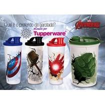 Tupperware Copos Vingadores Avengers 470ml Cada