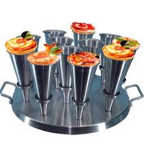 Forma Para 12 Pizzas No Cone C/ Receitas + Frete Gratis