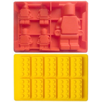 Formas De Gelo Ou Chocolate Blocos + Bonecos Lego - Silicone