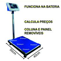 Balança De Chão 300kg Bateria Recarregável