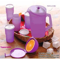 Tupperware A Jarra Lilás 2 Litros + 4 Copos 335ml