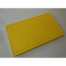 Tábua De Corte De Polietileno Amarela 10 Mm X 300 X 500 Mm