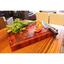 Tabua De Carne/corte Em Madeira Peróba 40x30x4,5 Cm Endgrain
