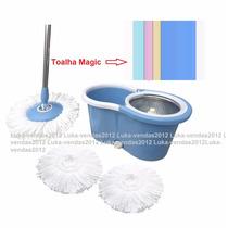Spin Mop Inox 3 Refis 360 Toalha Magic Esfregão And Go Pro