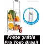 Carrinho Feira Dobrável Mercado Reforçado Zincado Frutas
