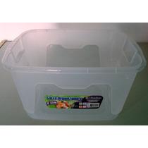 Kit 5 Caixas Plásticas Organizadoras Com Tampa 12 Litros