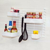 Porta Tempero Cozinha Suspensa Cook Home Branco Kit 4 Cestos