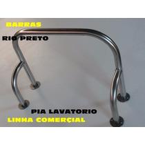 Barra De Apoio P/ Pia Lav Aço Inox 304 Todas Medidas Nbr9050