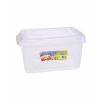 Caixa Organizadora Plástica 20l Com Tampa Kit 3 Unidades