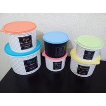 Tupperware Kit 6 Peças Caixas Para Mantimentos Linha Bistrô