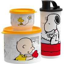 Tupperware - 3 Vasilhas Snoopy E Charlie Brown