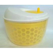 Secador De Salada Centrifuga Plástico Resistente Amarelo