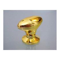 Kit 30 Puxador Oval Grande Dourada C/parafuso P/guarda Roupa
