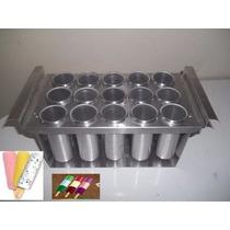 Forma De Picolé Com 15 Unidades Em Aluminio
