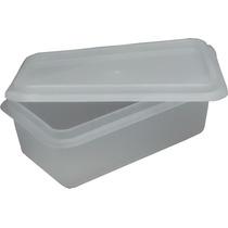 Kit 20 Caixas Plastica Tampa Marfinite P/ 500 Gramas 600 Ml