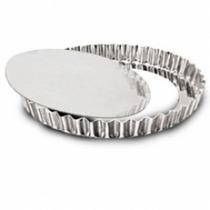 Forma Torta Crespa Fundo Falso 30cm Alumínio