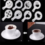 Molde Stencil 16 Unidades P/decorar Café+sobremesa+barista