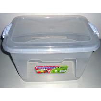 Kit 5 Caixas Plásticas Organizadoras Com Tampa 20 Litros