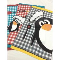 Kit Com 3 Guardanapos Felpudo (teka) Família Pinguim