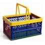 Organizador Caixa Plástico Dobrável C/ Alça Prático Rb507