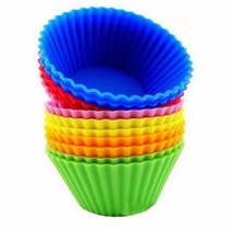 Kit 12 Unidades Forma Silicone Cupcake Muffins Petit Gateau