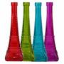Garrafa De Vidro Colorida 27 Cm