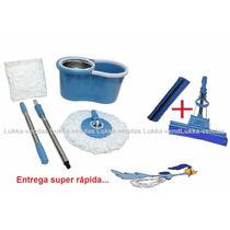 Super Spin Mop Inox + Rodo Mágico 33cm Grande, And Go Balde